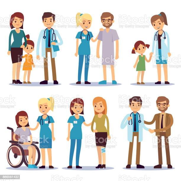 Medical staff with patients nurses and doctors with sick person vector id886561432?b=1&k=6&m=886561432&s=612x612&h=syjyba  3hhr v xbwyvujzvhfvmbtorz4h7e8ymewk=