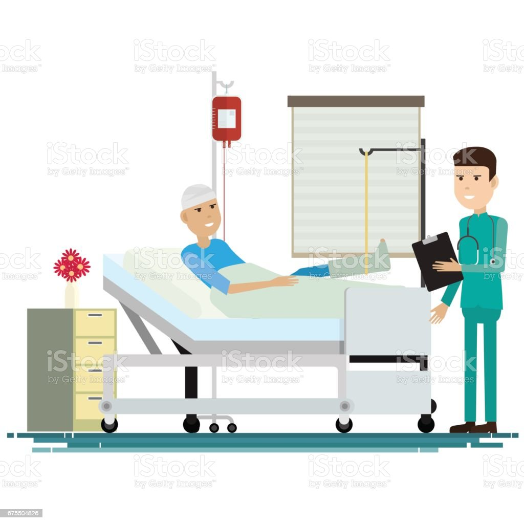 medical staff with patients. Vector illustration vector art illustration