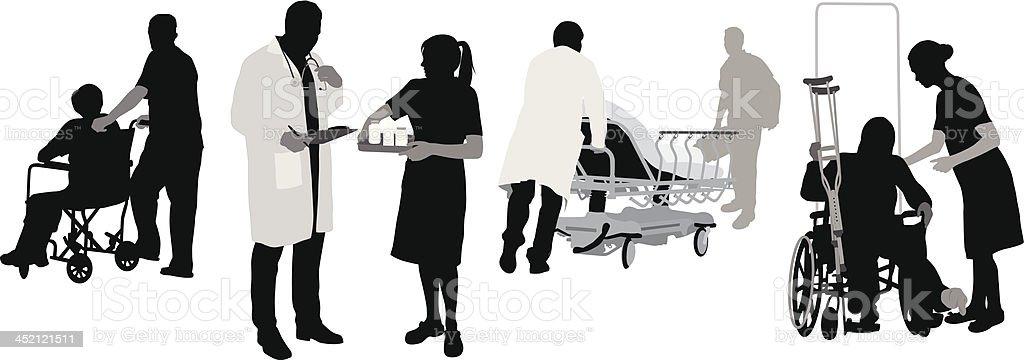 Medical Staffing vector art illustration