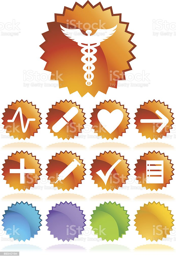 Medical Sticker Labels royalty-free stock vector art