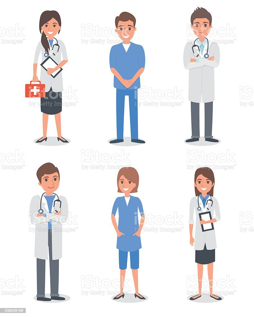 Medical stuff vector art illustration