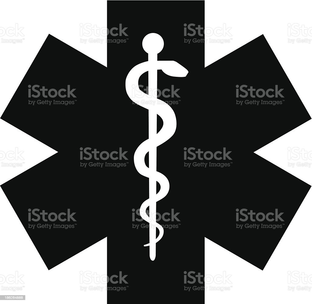 Medical symbol of the Emergency vector art illustration