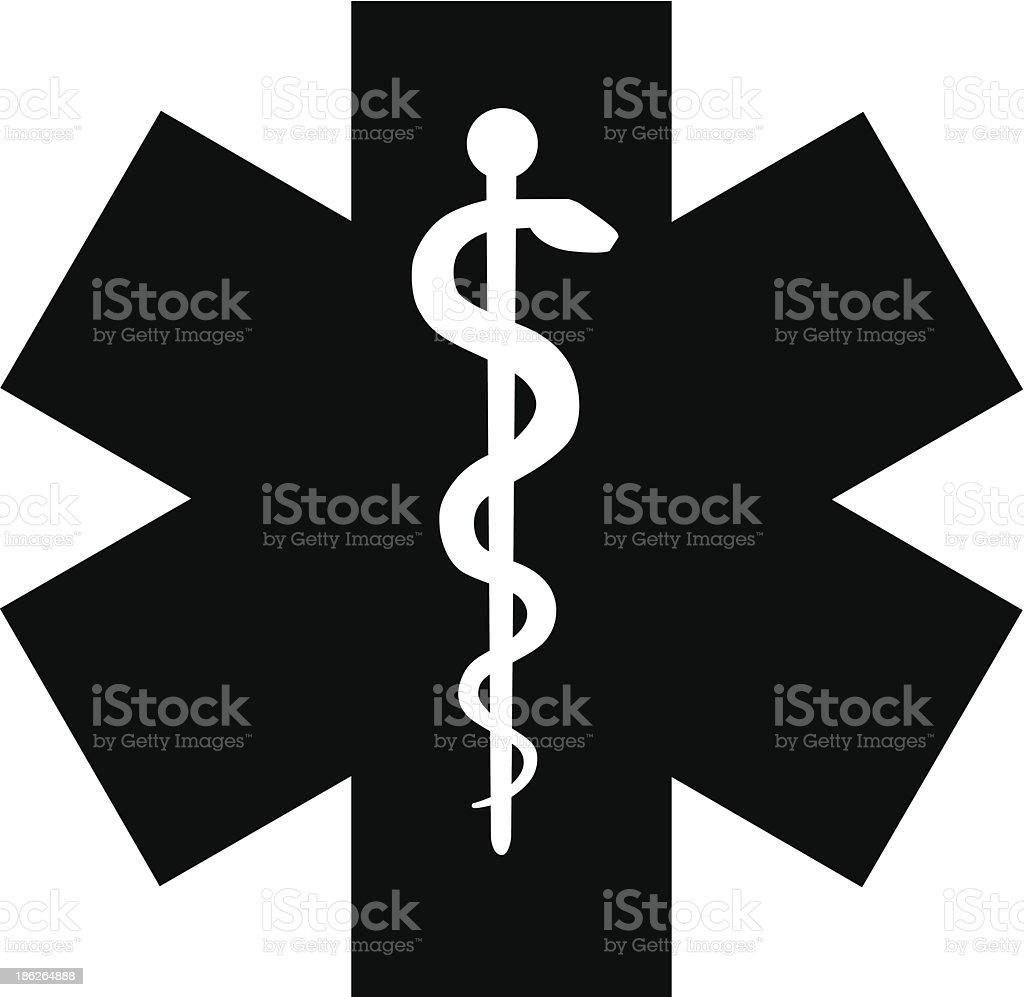 Símbolo Médico de emergência - ilustração de arte em vetor