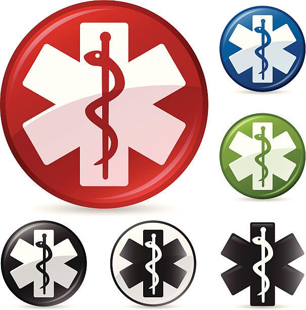 医療シンボルマーク - 救急救命士点のイラスト素材/クリップアート素材/マンガ素材/アイコン素材