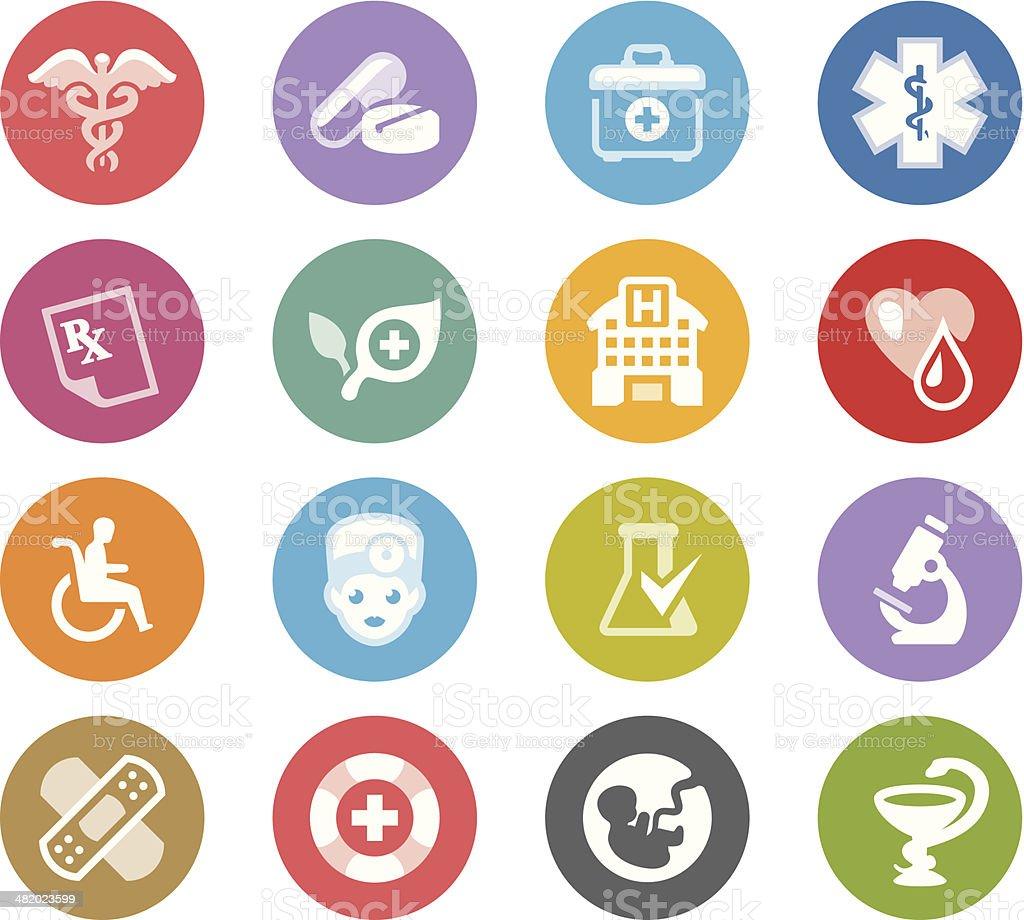 Medical Symbols / Wheelico icons royalty-free stock vector art