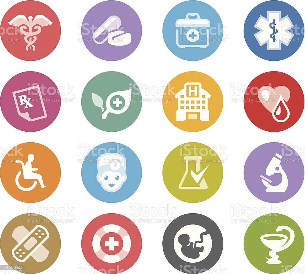 Medical Symbols / Wheelico icons vector art illustration
