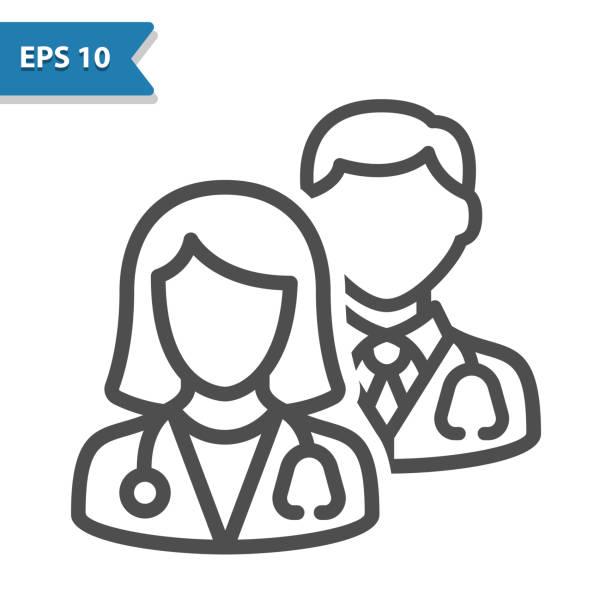 의료 팀 아이콘 - doctor stock illustrations