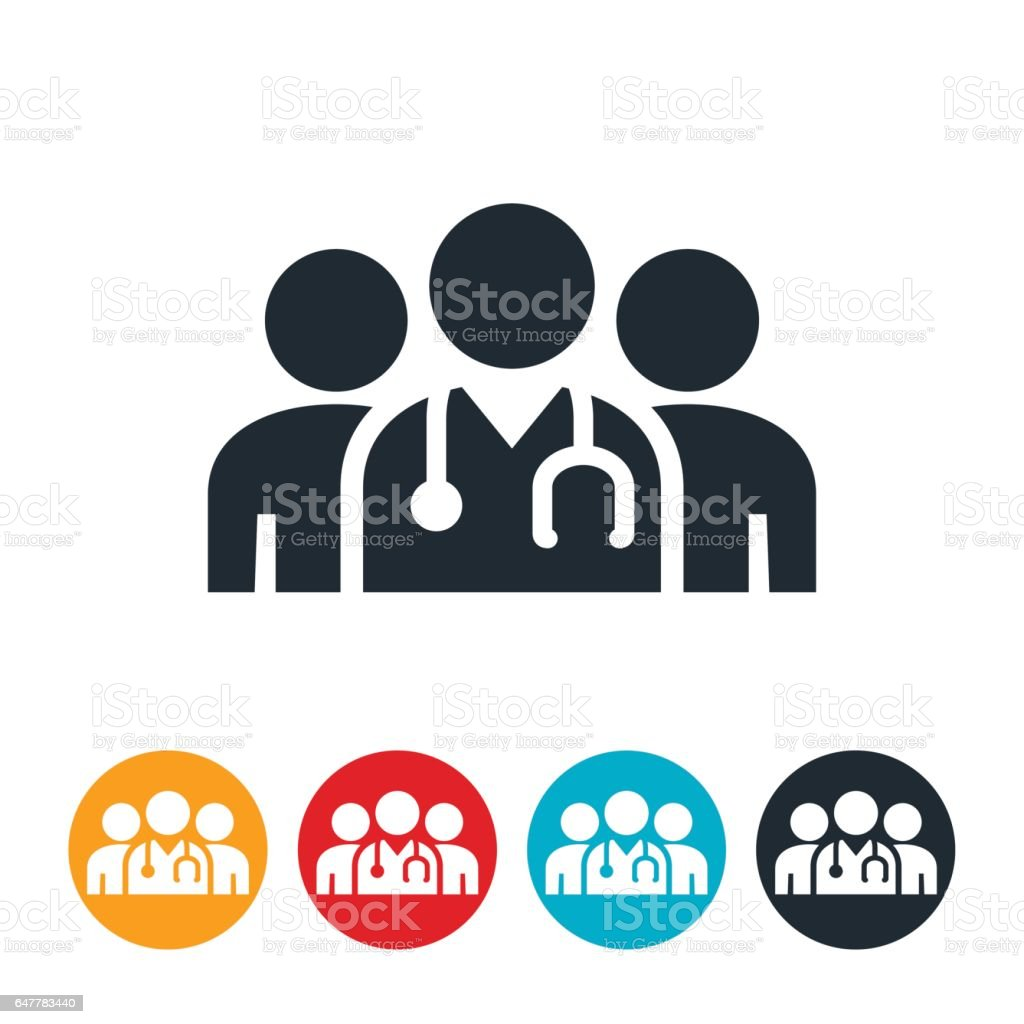 Medical Team Icon vector art illustration