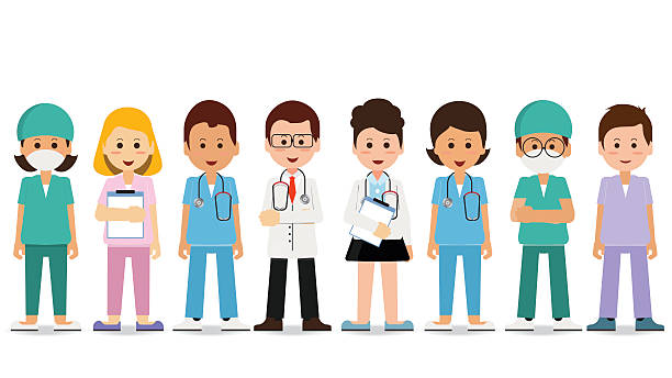 Medical team isolated on white. - ilustración de arte vectorial