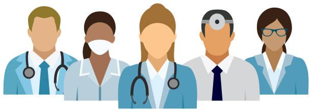 illustrazioni stock, clip art, cartoni animati e icone di tendenza di medical team - dottoressa