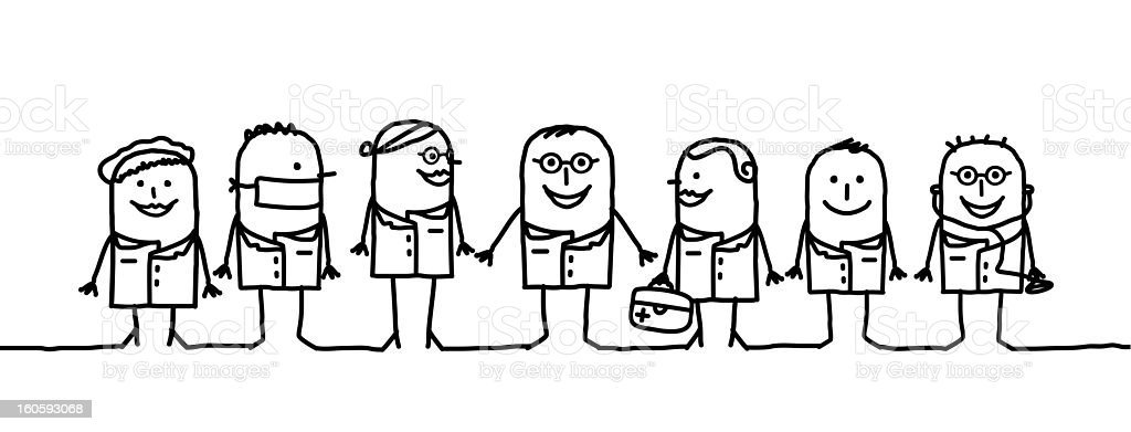 medical teamwork royalty-free stock vector art