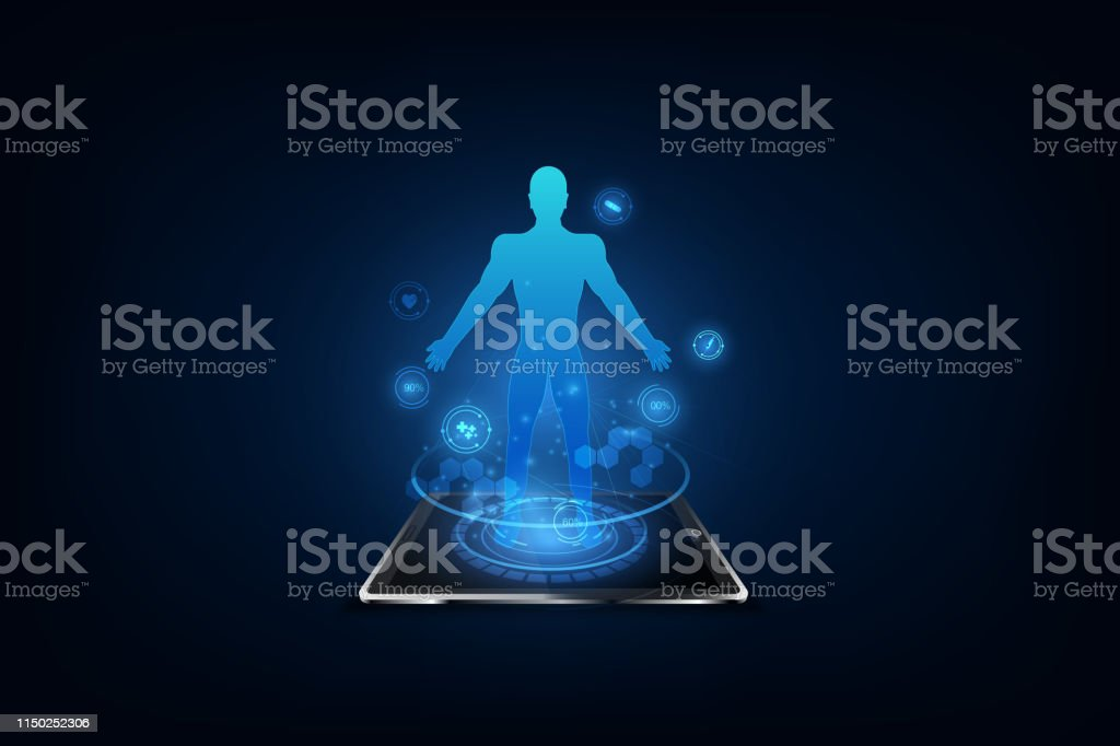 Medical technology concept. Electronic medical record. vector...