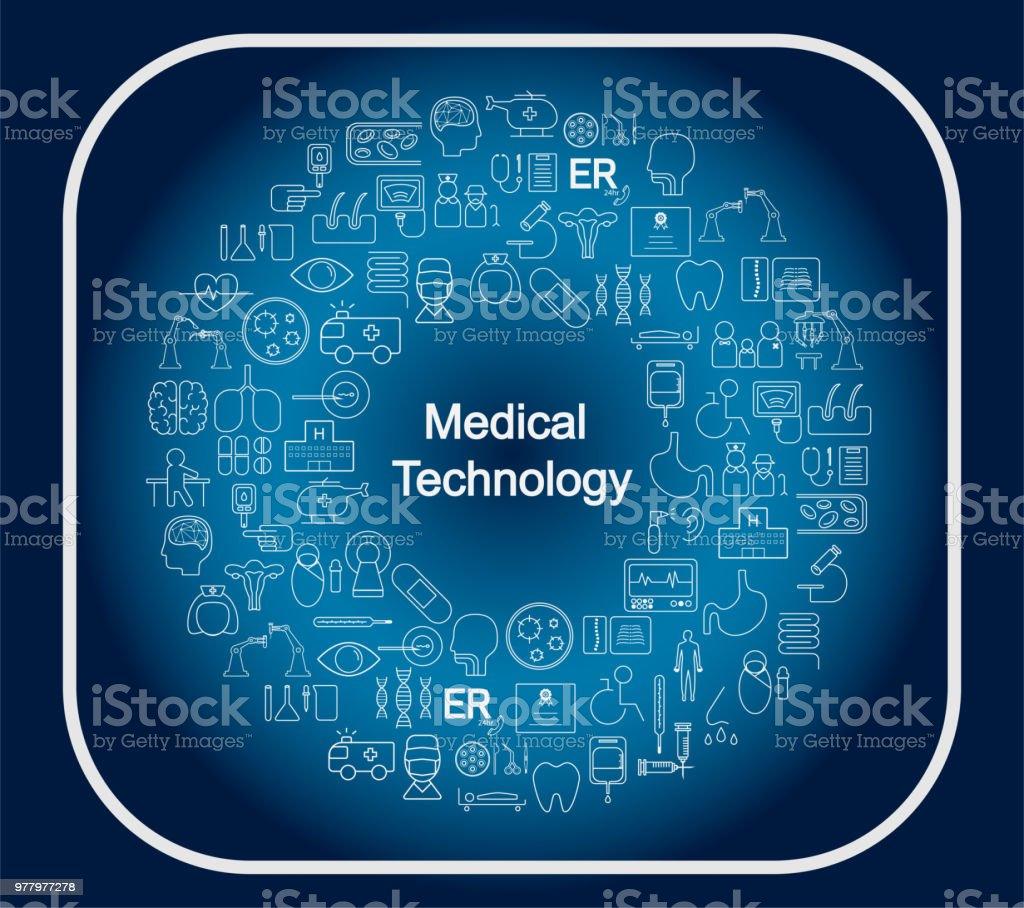 medical technology concept vector art illustration