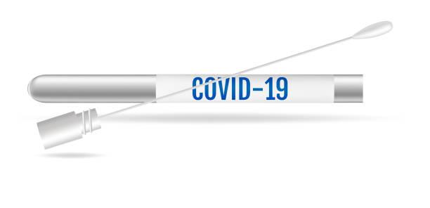 Medical test and protection against coronavirus covid-19. vector art illustration