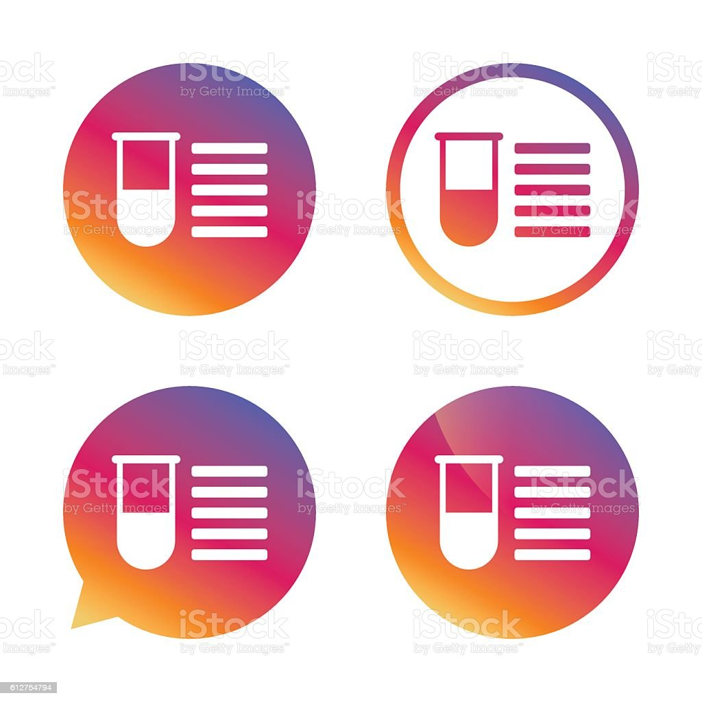 Medical Test Tube Sign Icon Lab Equipment Stock Vector Art & More