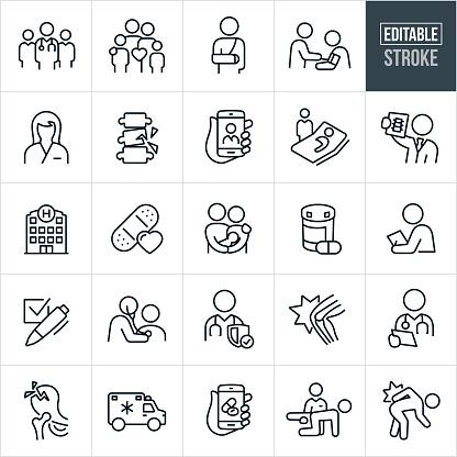 Medical Thin Line Icons - Editable Stroke