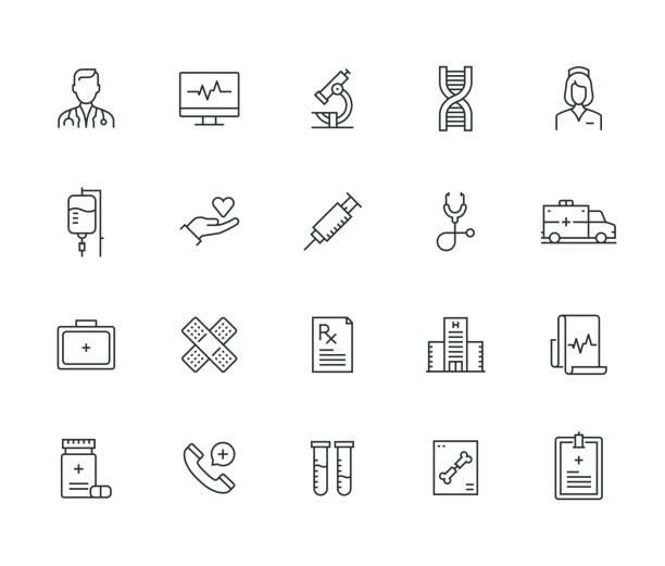 의료 선 시리즈 - doctor stock illustrations