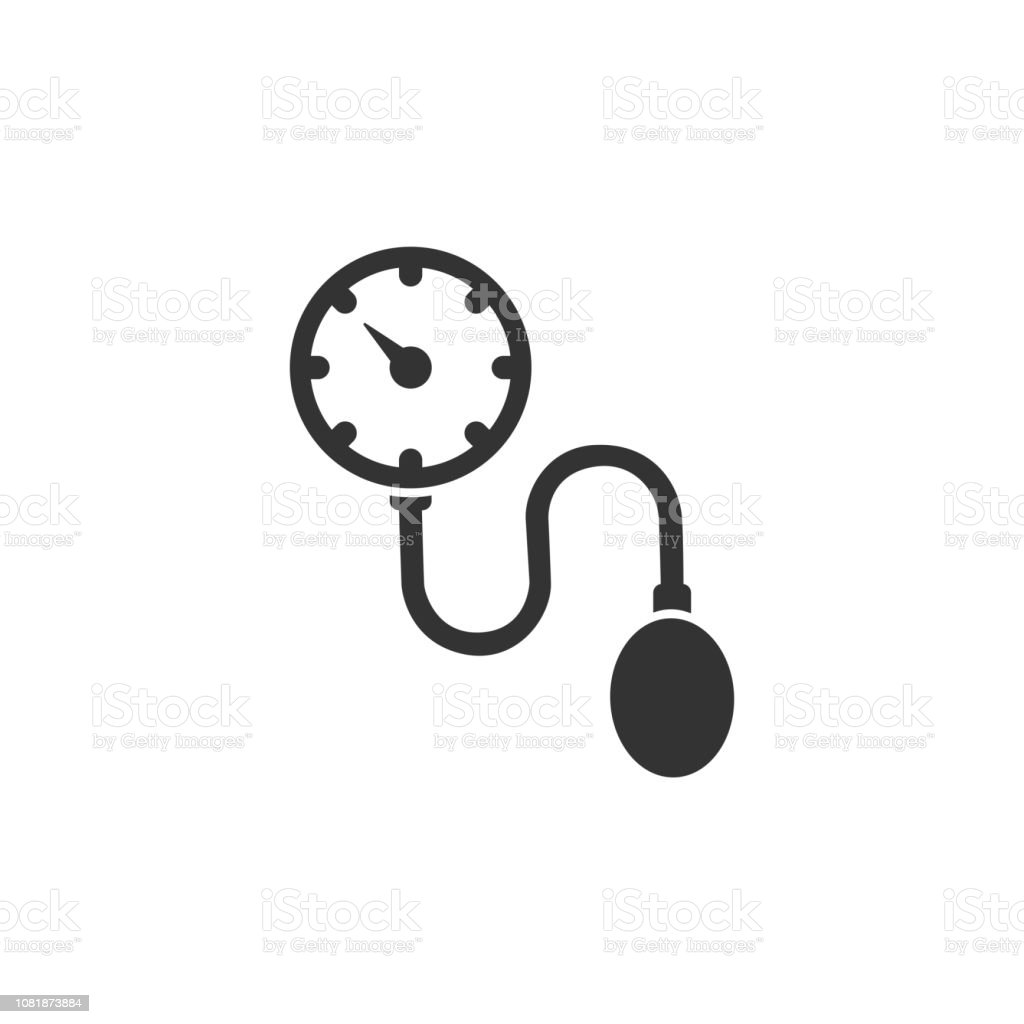 Medical tonometer icon on a white background. Blood pressure check. Vector illustration vector art illustration
