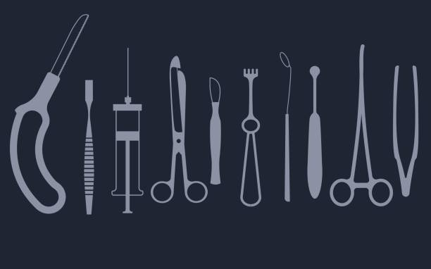 medical tools set - surgeon stock illustrations, clip art, cartoons, & icons