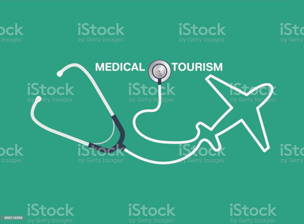medical tourism vector background vector art illustration