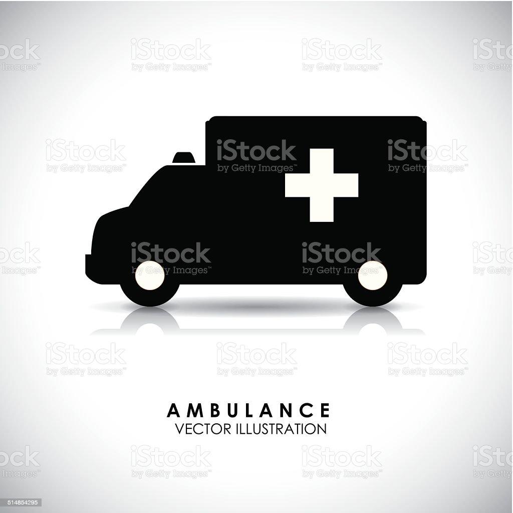 medical transport vector art illustration