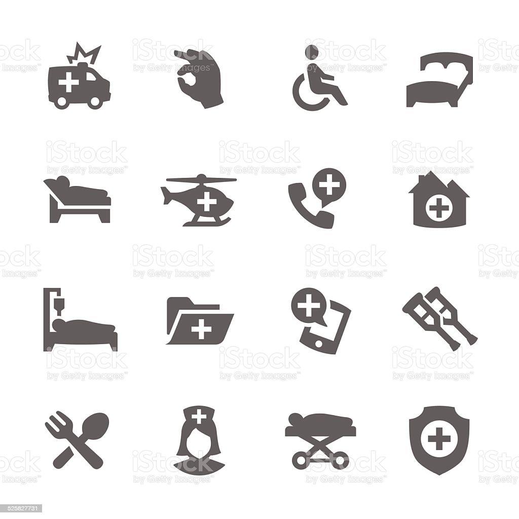 Medical Transportation Icons vector art illustration