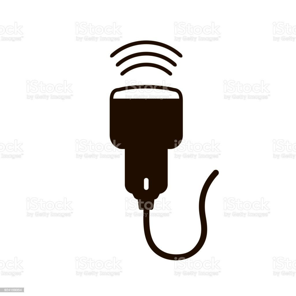 Medical Ultrasound Icon vector art illustration