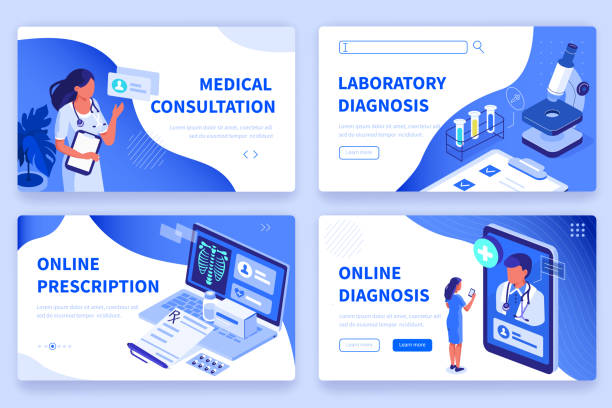 medical Medical concept  banners templates. Can use for backgrounds, infographics, hero images. Flat isometric modern vector illustration. medical stock illustrations