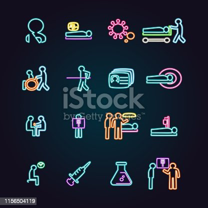 The vector files of medical icon set.