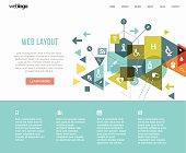 Medical web layout.