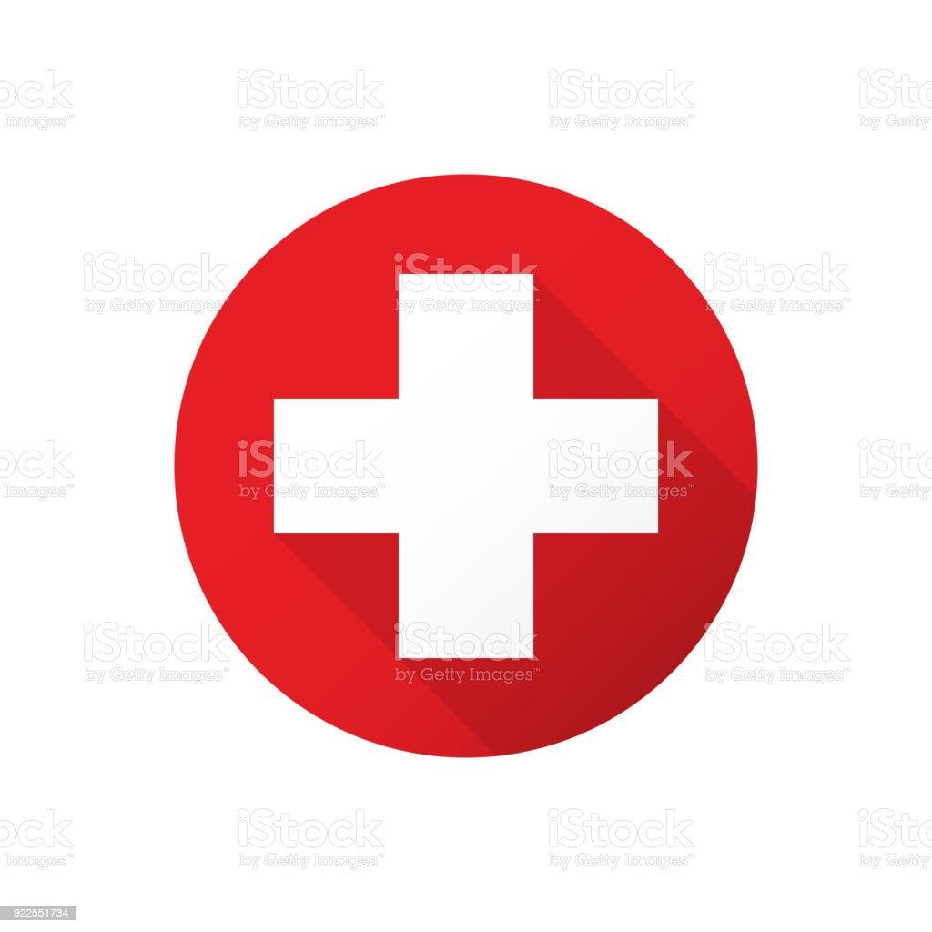 Croix blanche médicale - Illustration vectorielle