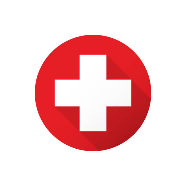 medical white cross - signs and symbols stock illustrations