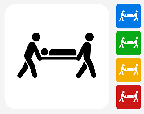Medical Workers Carrying a Sick Man Icon