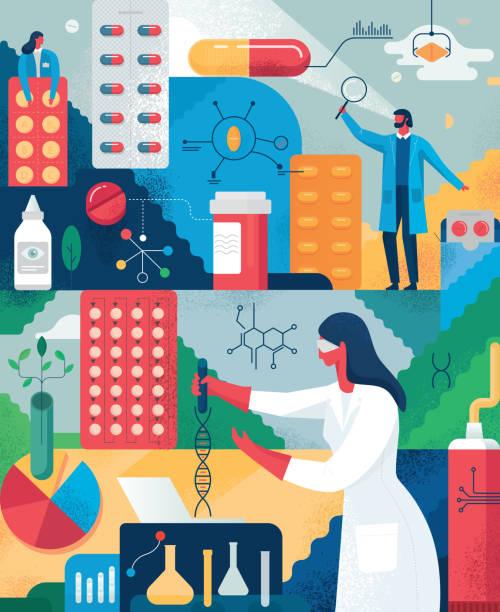Arzneimittelentwicklung – Vektorgrafik