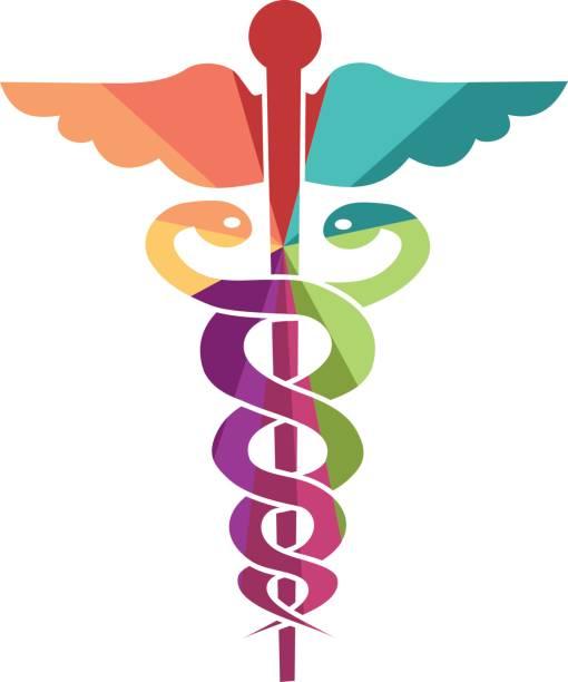 Medicin icon Colored medicine icon for children or happy adult male nurse stock illustrations