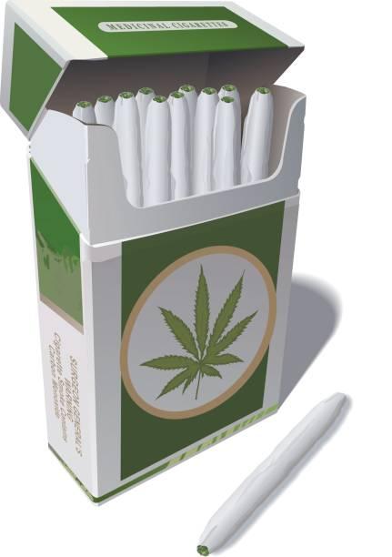 Medicinal Cigarettes vector art illustration