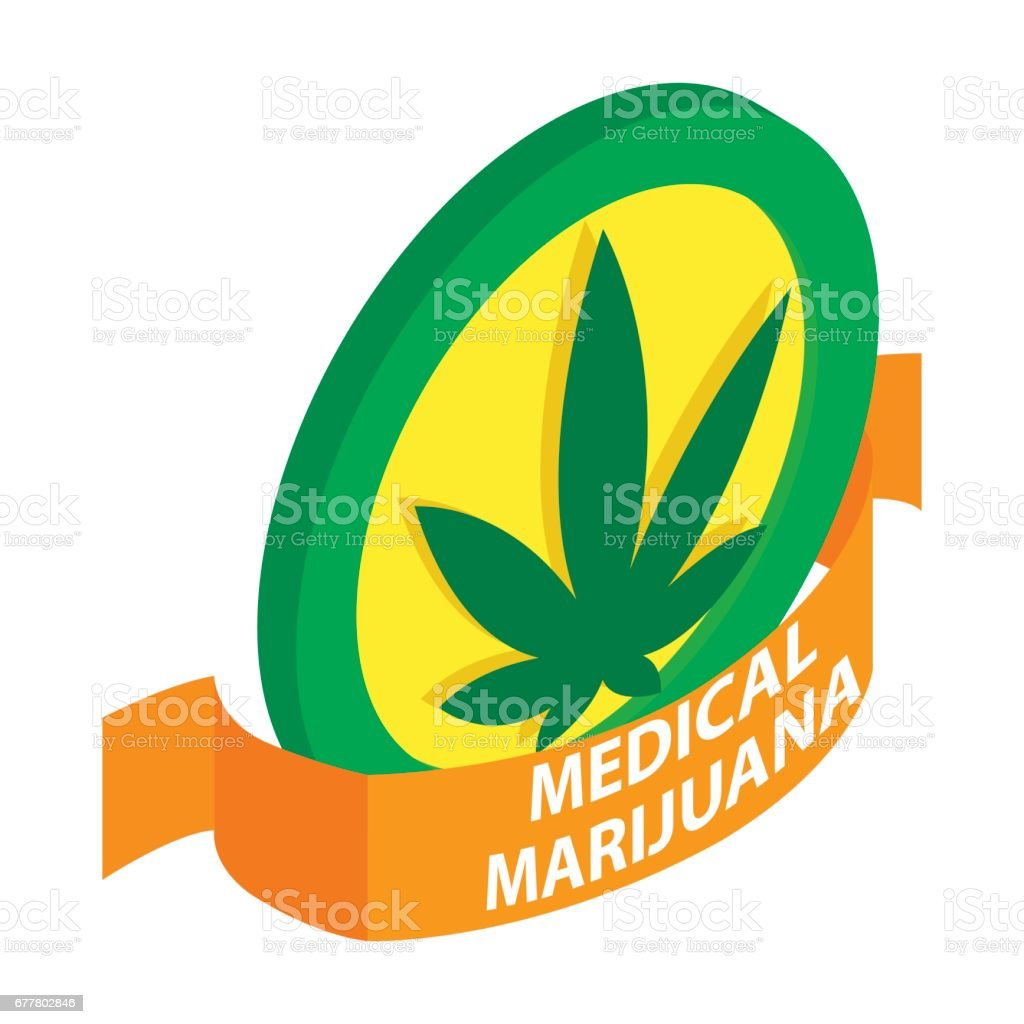 Medicinal marijuana label icon, isometric 3d style royalty-free medicinal marijuana label icon isometric 3d style stock vector art & more images of coat of arms