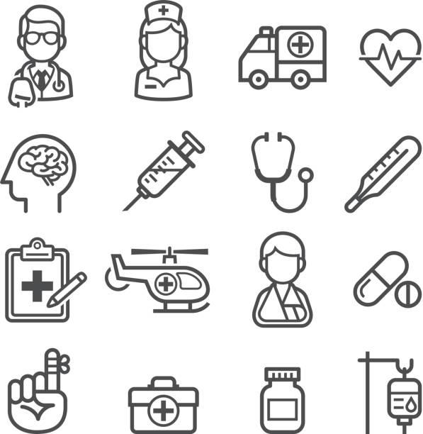 薬と健康のアイコンです。 - 救急救命士点のイラスト素材/クリップアート素材/マンガ素材/アイコン素材