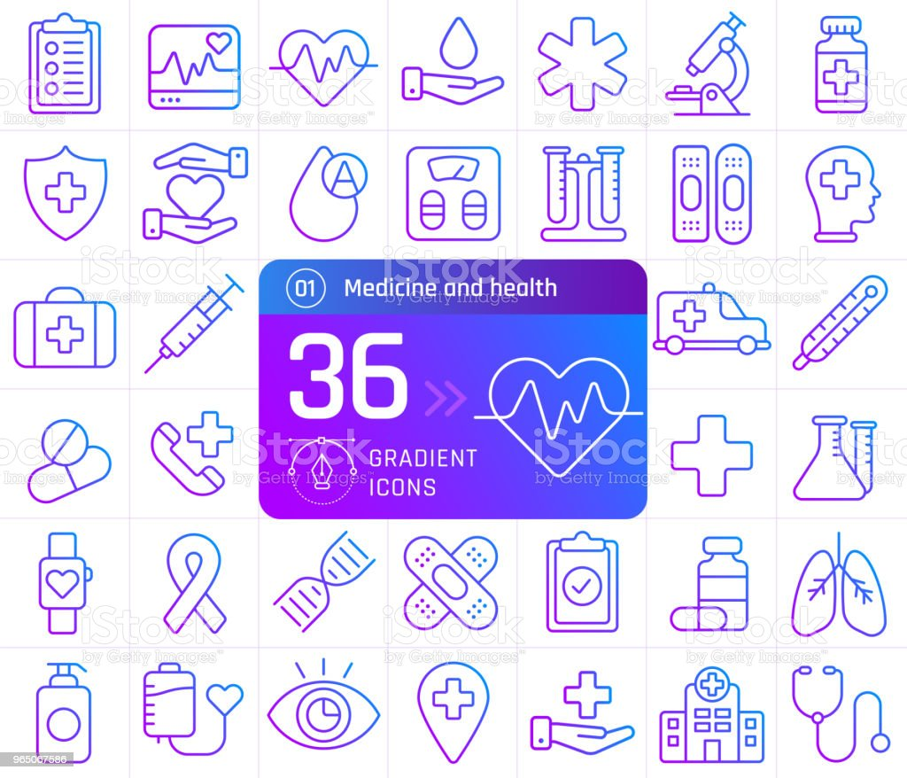 Medicine and health line icons set. Suitable for banner, mobile application, website. royalty-free medicine and health line icons set suitable for banner mobile application website stock vector art & more images of ambulance