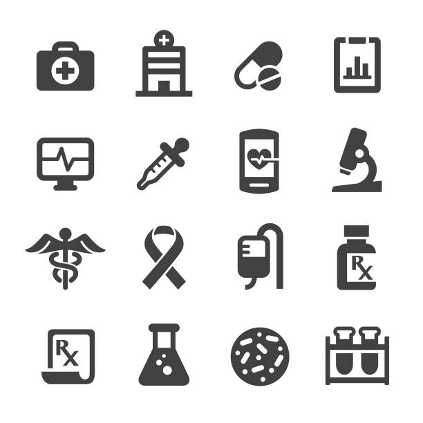 Medicine and Healthcare Icons - Acme Series vector art illustration