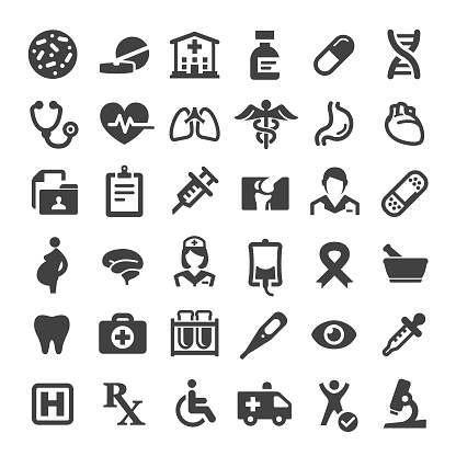 Medicine and Healthcare Icons - Big Series clipart