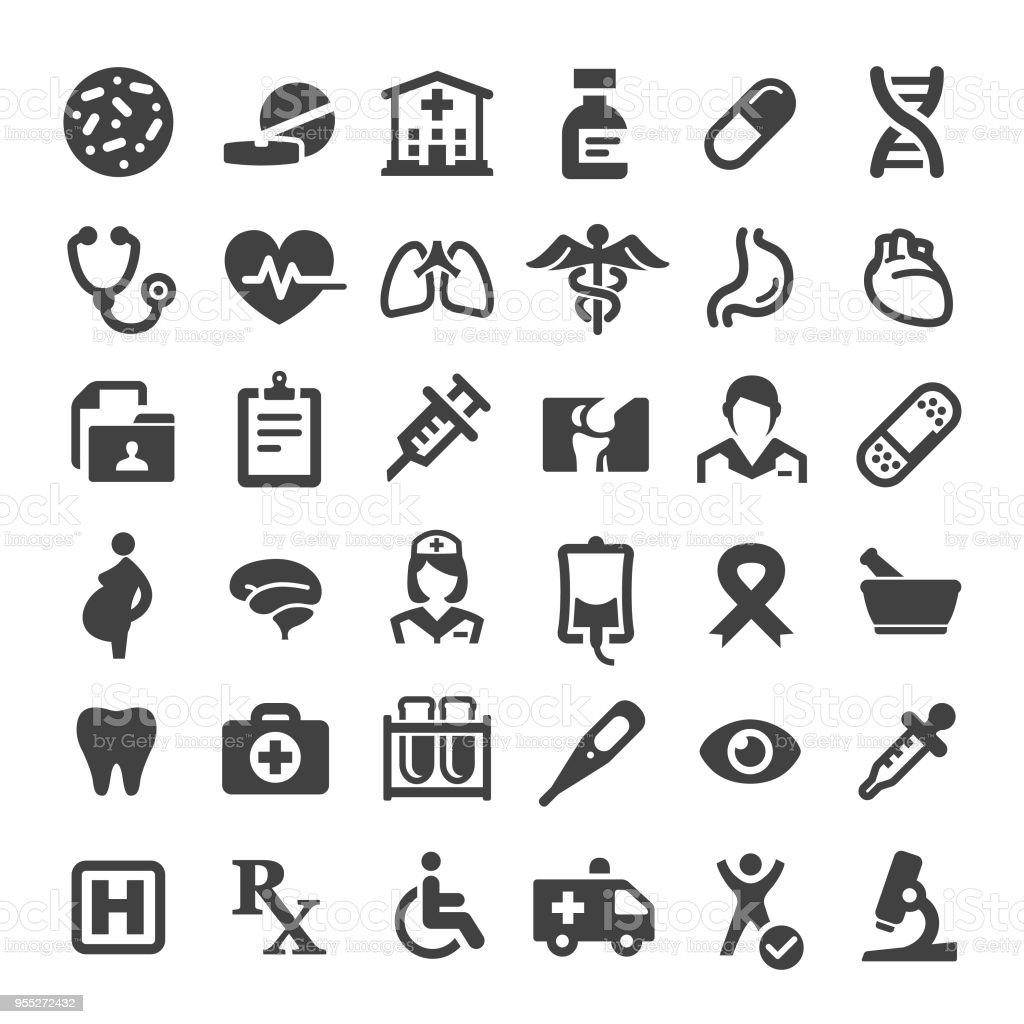Medicine and Healthcare Icons - Big Series vector art illustration