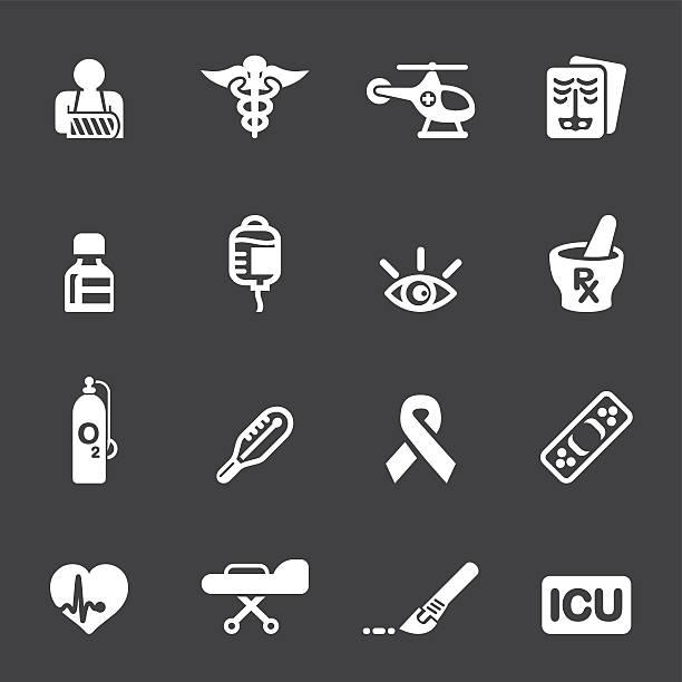 Medicine and Healthcare Mono icons 2 vector art illustration