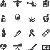 Medicine and Healthcare Silhouette icons 2