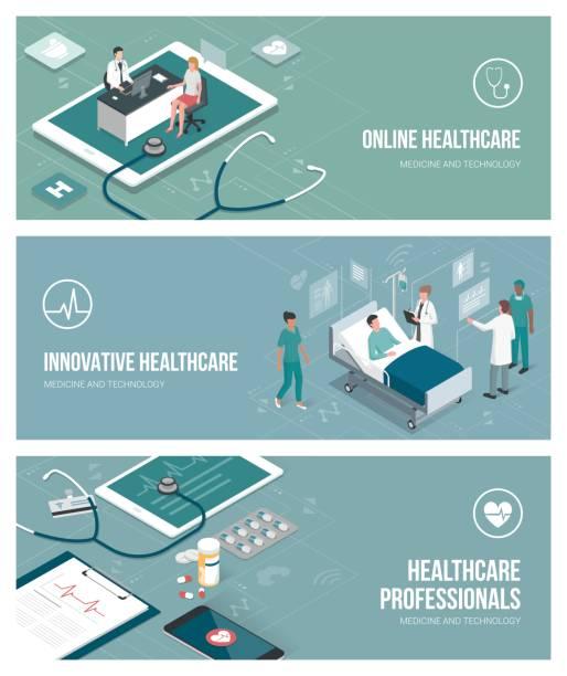 医療とヘルスケア - スマホ ベッド点のイラスト素材/クリップアート素材/マンガ素材/アイコン素材