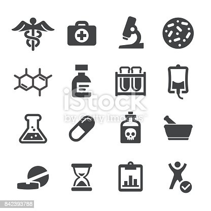Medicine and Research Icons