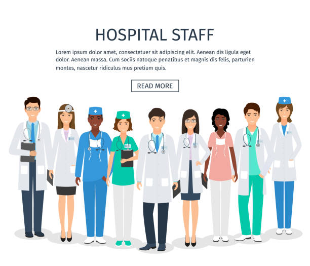 Best Hospital Employees Group Illustrations, Royalty-Free