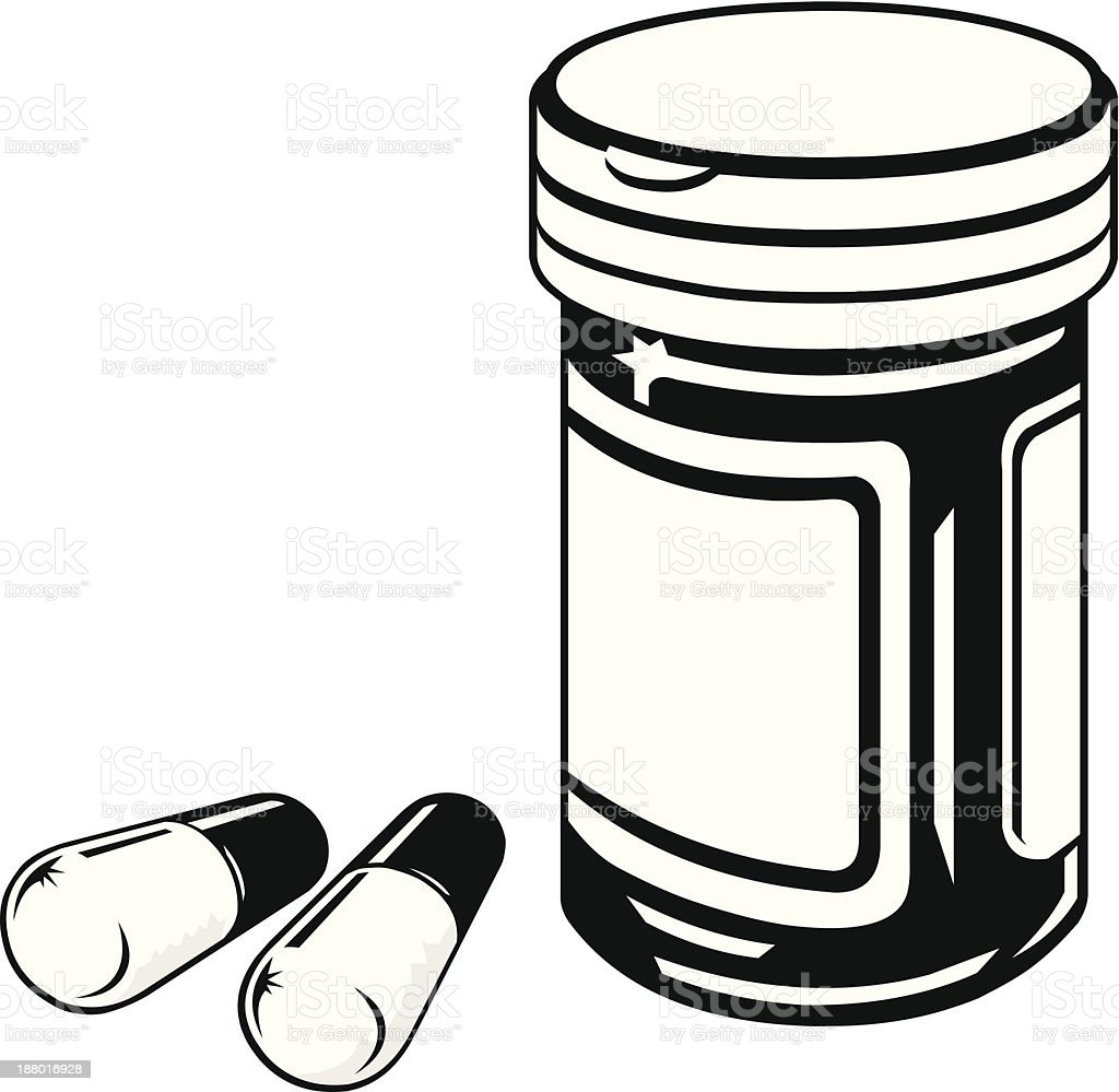 medicine bottle and pills stock vector art more images of rh istockphoto com Baby Bottle Clip Art Baby Bottle Clip Art