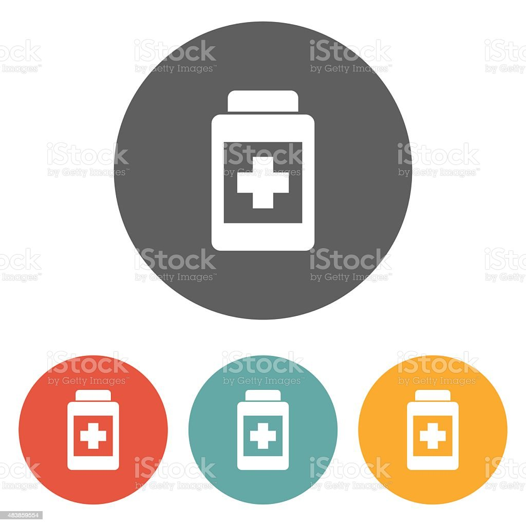 medicine bottle icon vector art illustration