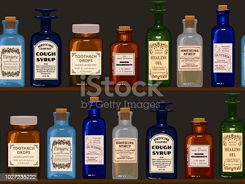 medicine bottles seamless